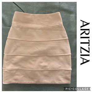 Aritzia Talula Mini Skirt High Waisted Blush XS 0